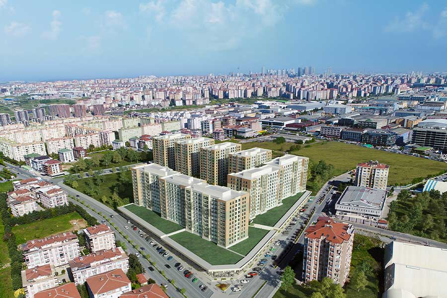 شقق للبيع في اسطنبول ضمن مجمع سكني في منطقة بيلك دوزو الراقية GP-145