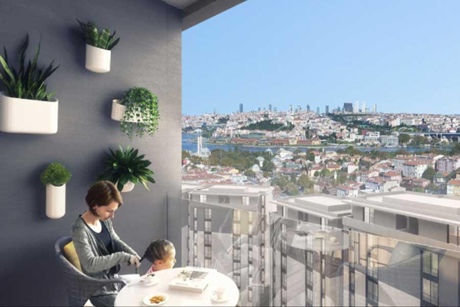 شقق للبيع في اسطنبول ضمن مجمع سكني في منطقة السلطان ايوب GP-110